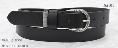 China Hand Stitching Loops Ladies Leather Belts , Zinc Alloy Buckle Women's Belts For Jeans supplier
