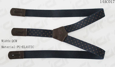 China Elastic / PU Mens Fashion Suspenders Silk Printing On Elastic Tape Without Metals supplier