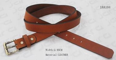 China Gold Satin Buckle Womens Leather Belt Screw Part Decoration Available supplier