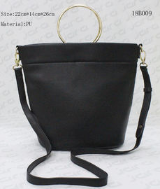 China College Style Cross Body Sling Bag , Girls Messenger Bag With Metal Ring Handle supplier