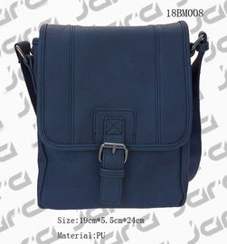 China Classic Navy Messenger Bag , Cross Body PU Shoulder Bags For Office Male supplier