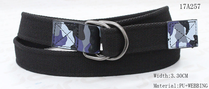 Mens Double D Ring Leather Belt