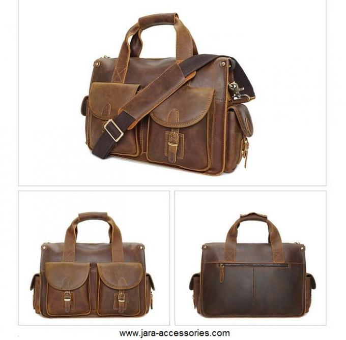 Classic Navy Messenger Bag , Cross Body PU Shoulder Bags For Office Male