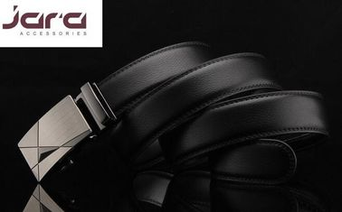 Dark Brown / Black Automatic Buckle Belt Split Leather Material Available