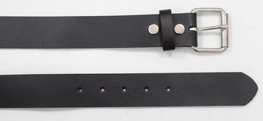 Black / Dark Brown Women's Leather Belts For Jeans , Snap Buttons Unisex Thick Belts For Jeans