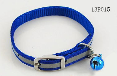 Blue Fashion Webbing Rope Dog Leash With Small Bell And Buckle 3cm Width